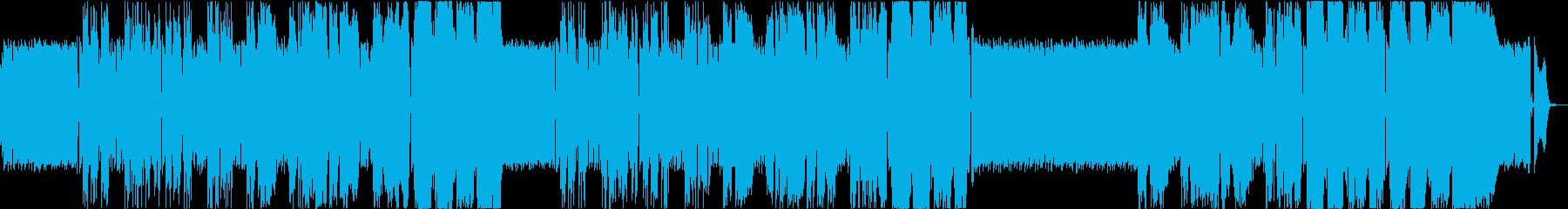 架空のアニメ「炎上肉魂ヒーマン」主題歌の再生済みの波形