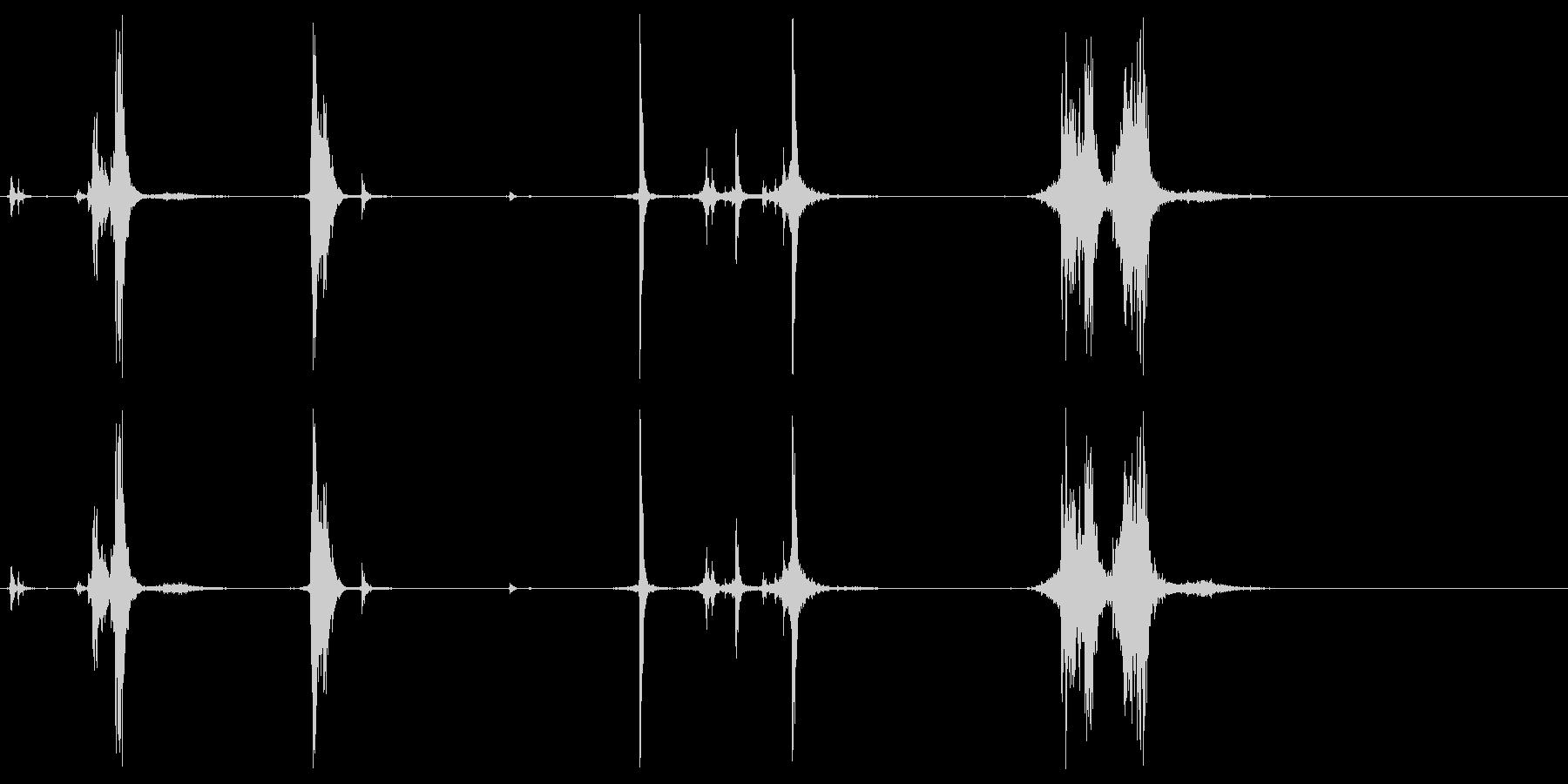 ハンドガンリロードの未再生の波形