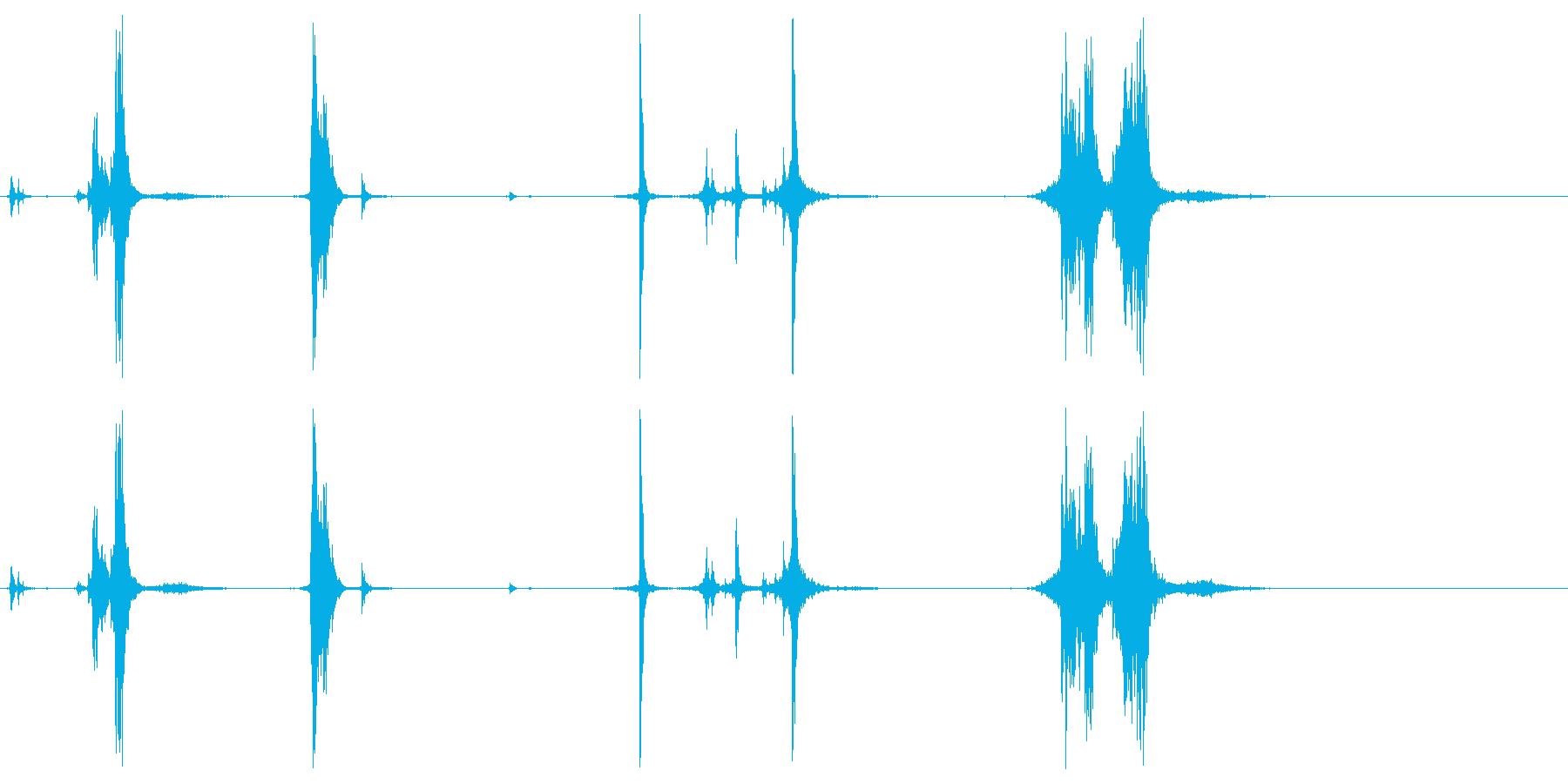 ハンドガンリロードの再生済みの波形