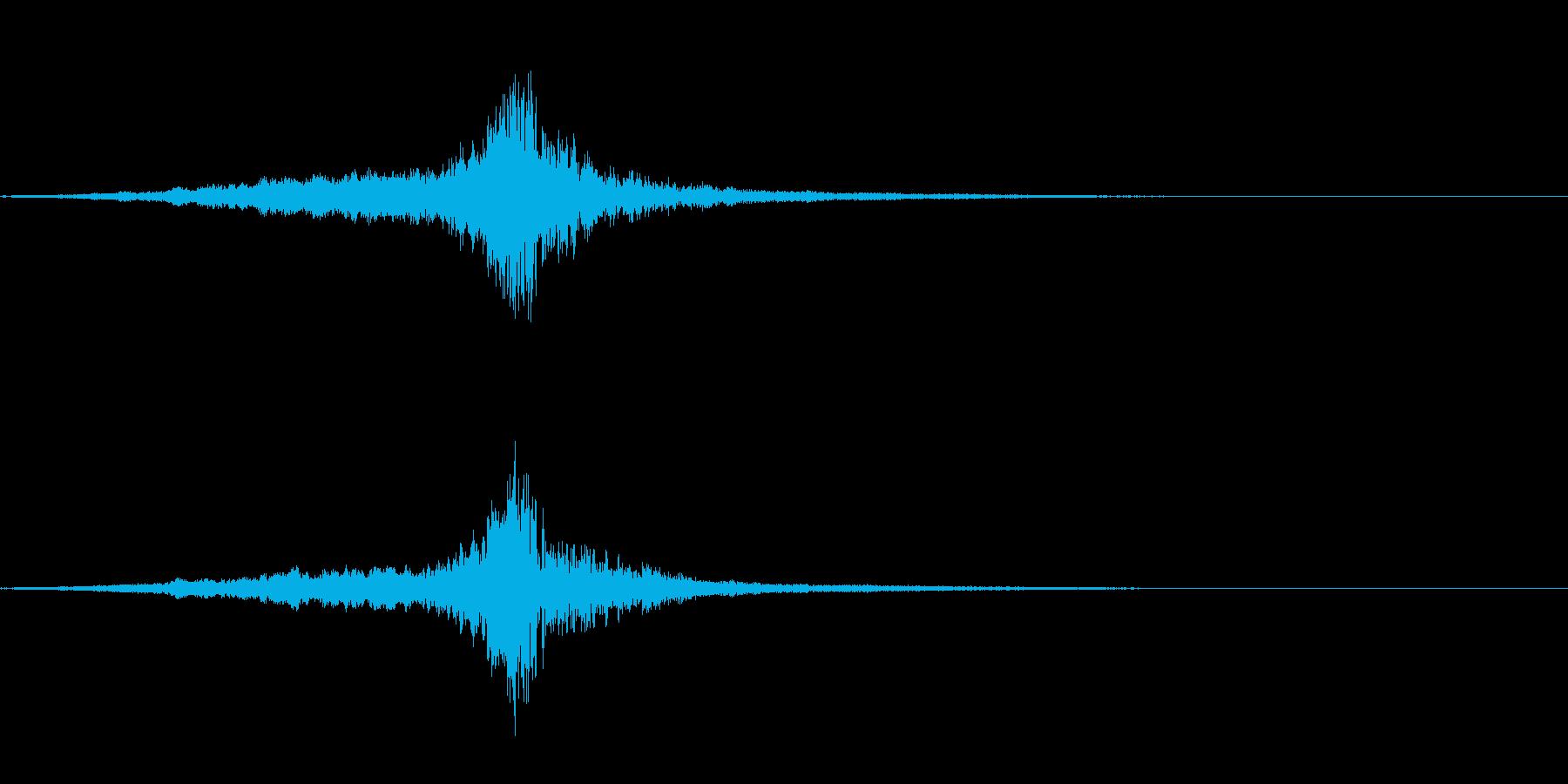 ロゴや転換の音・一刀両断・シューブンッの再生済みの波形