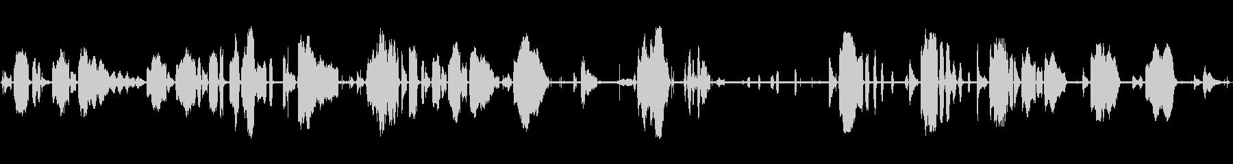 幼児泣きの未再生の波形