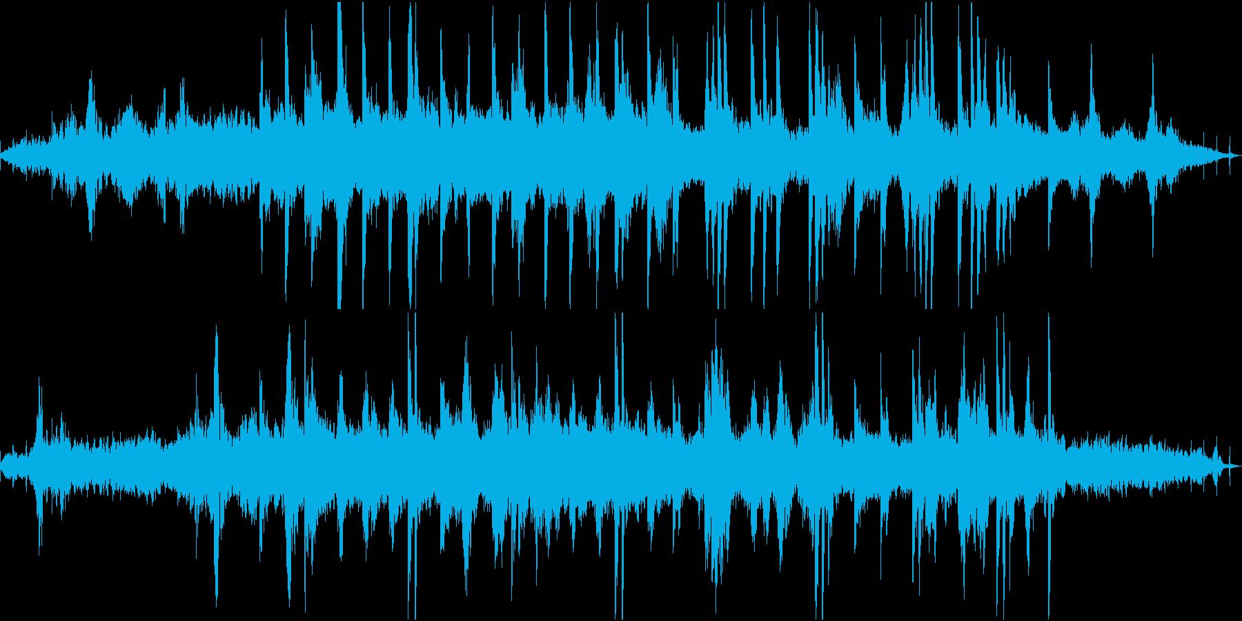 ディストピア感近未来感あるピアノBGMの再生済みの波形