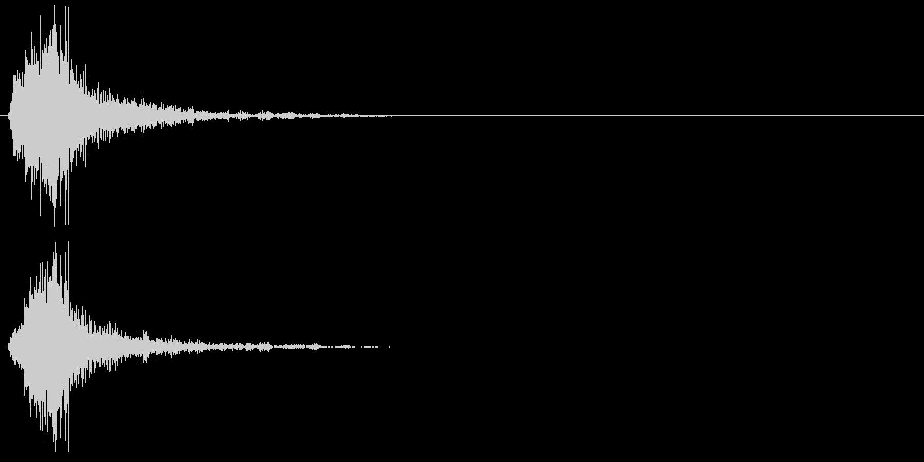 シャッの未再生の波形