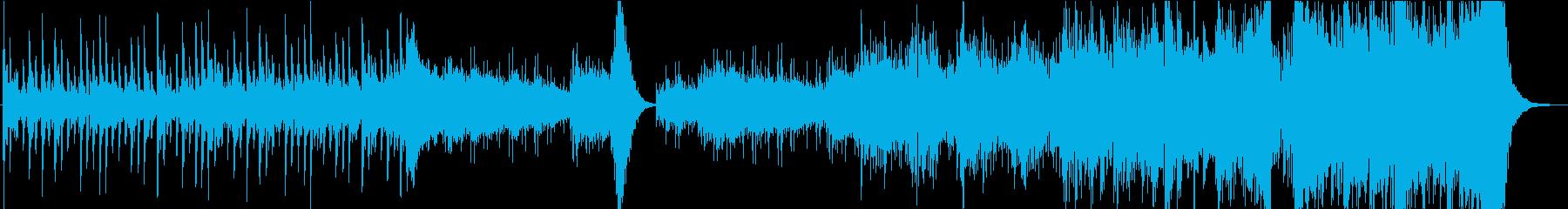 緊張感のあるハリウッド風パーカッション曲の再生済みの波形
