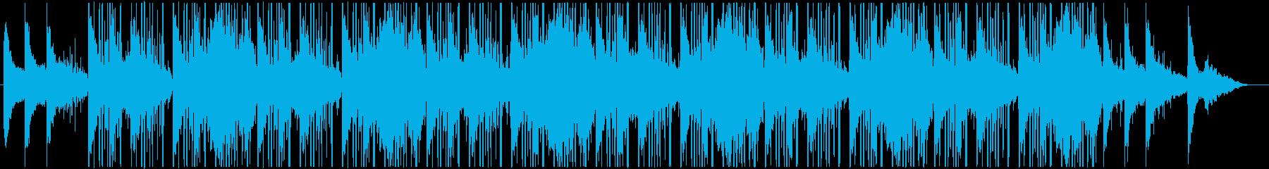 メロウなピアノと環境音のLo-fi系の再生済みの波形