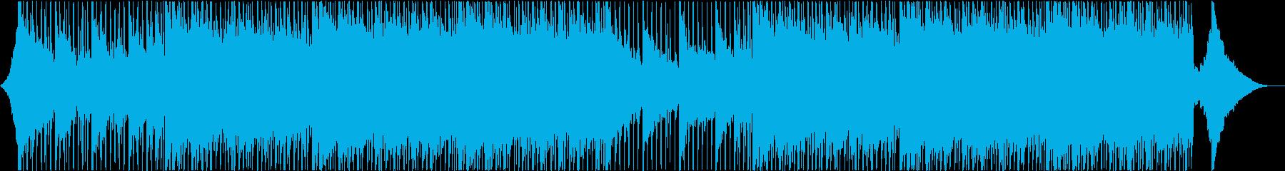 企業、バックグラウンドトラックの再生済みの波形