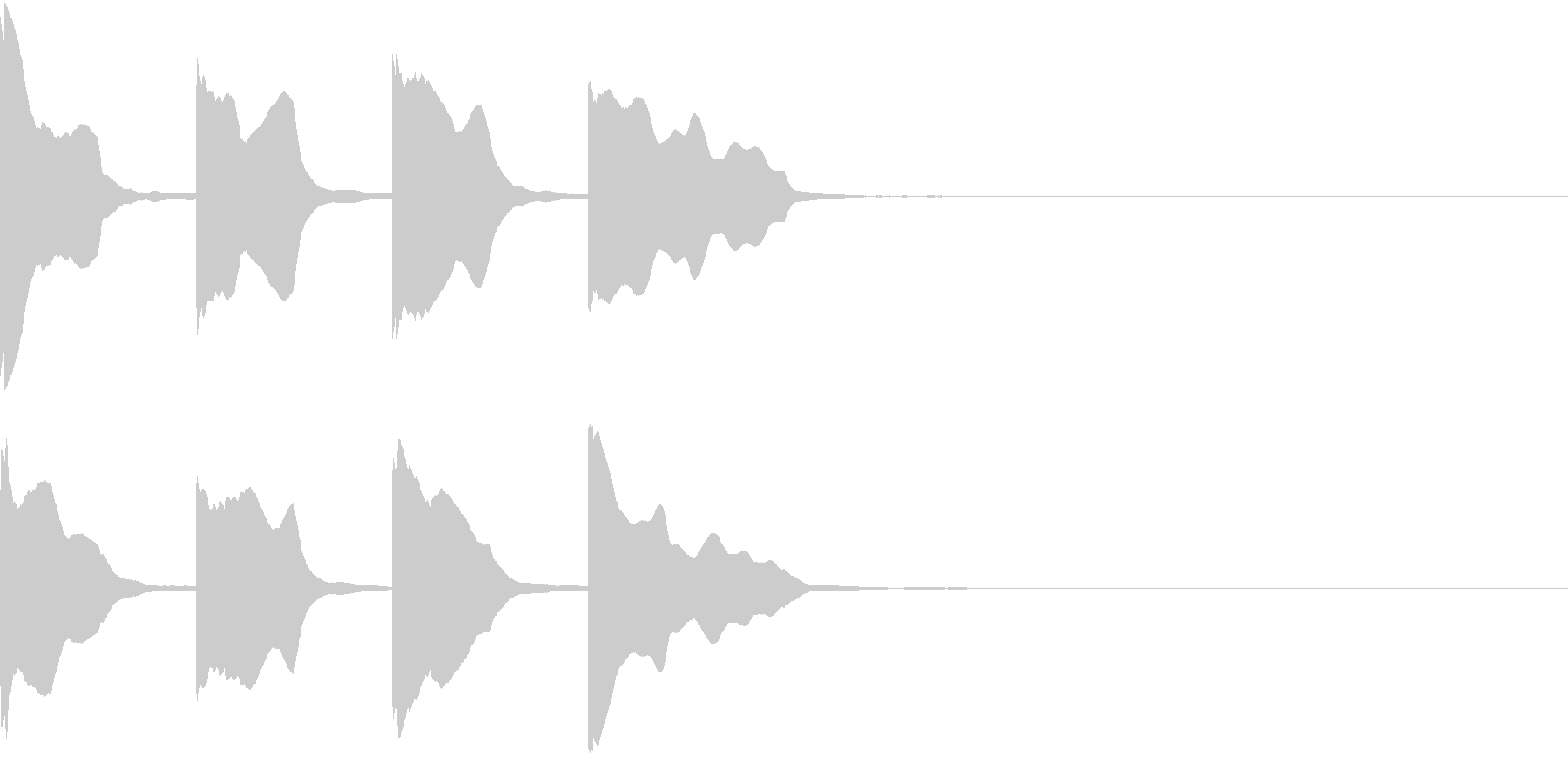 レーススタート合図6 カウントダウンの未再生の波形