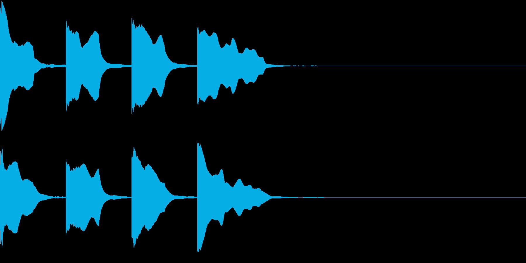 レーススタート合図6 カウントダウンの再生済みの波形