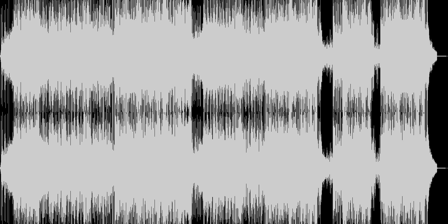 疾走感溢れるビートの未再生の波形