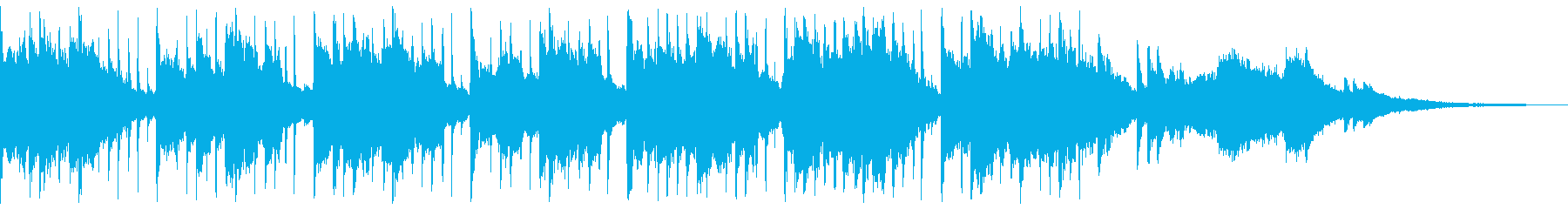 美しく緩やかな打楽器のピアノオスチナートの再生済みの波形