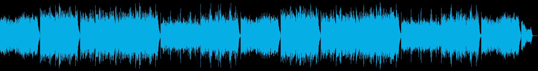 優しく落ち着くピアノポップ:フルx2の再生済みの波形