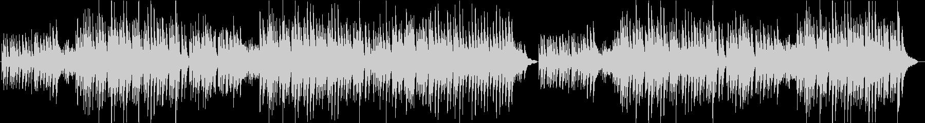 哀愁感のあるピアノバラード曲の未再生の波形