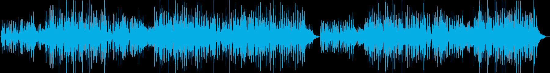 哀愁感のあるピアノバラード曲の再生済みの波形