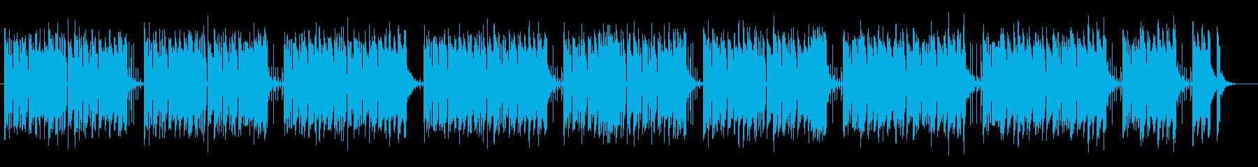 軽やかに弾む可愛らしいミュージックの再生済みの波形