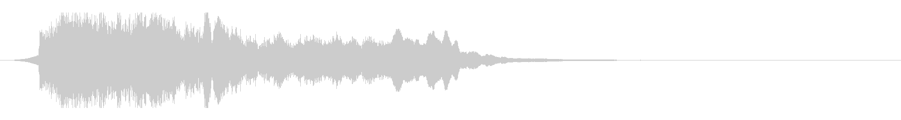 水面・水中をイメージしたサウンドロゴの未再生の波形