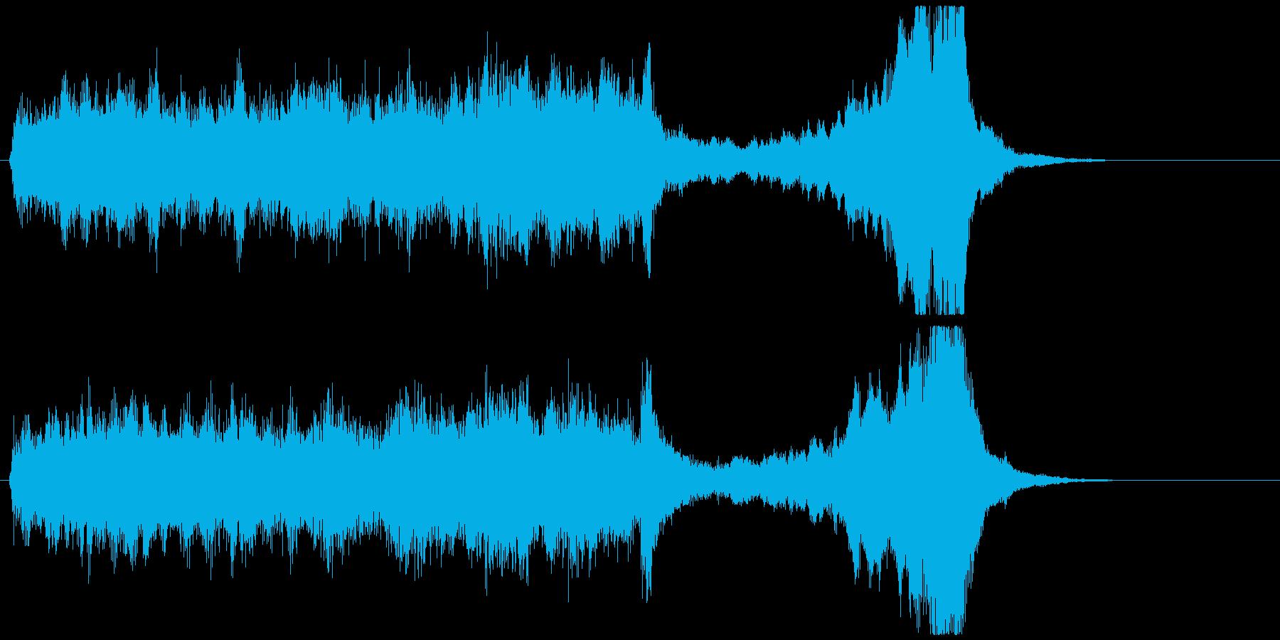 はじまりを予感させるオーケストラジングルの再生済みの波形