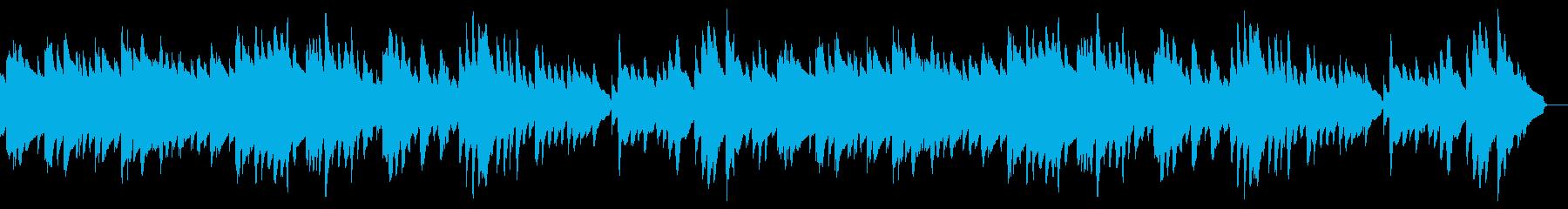 もの哀しい静かな曲 ビブラフォン ハープの再生済みの波形