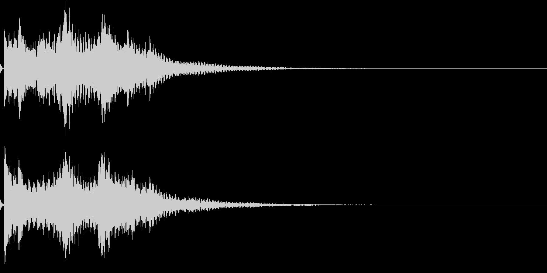 お正月 琴 和風 日本 和楽器 9の未再生の波形