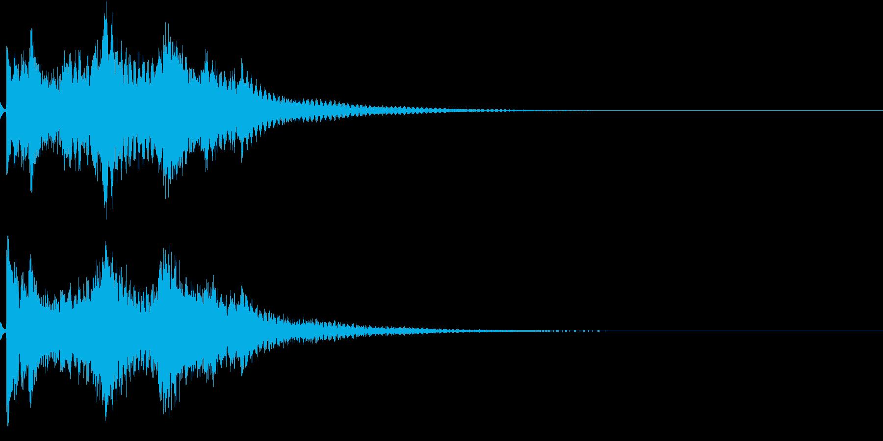お正月 琴 和風 日本 和楽器 9の再生済みの波形