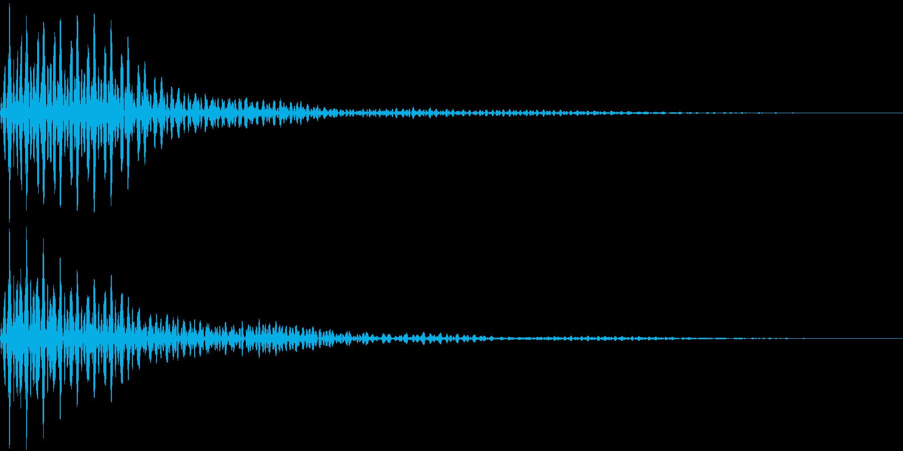 Button 決定・キャンセル 重低音の再生済みの波形