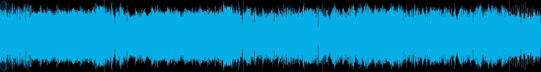 ファミコン音色のゲーム音楽の再生済みの波形