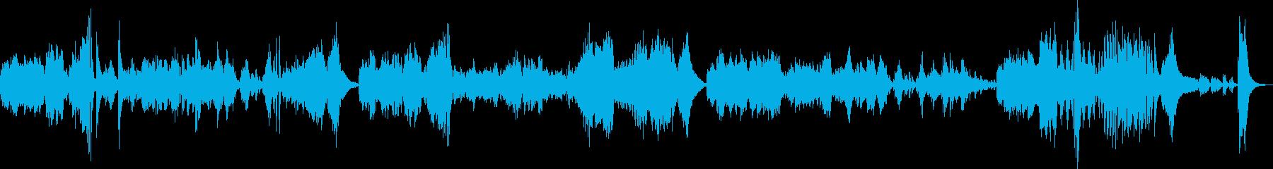 ベートーヴェンピアノソナタ悲愴第三楽章の再生済みの波形