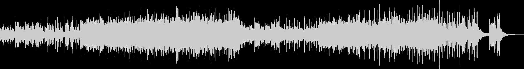 切ないピアノの応援ソングの未再生の波形