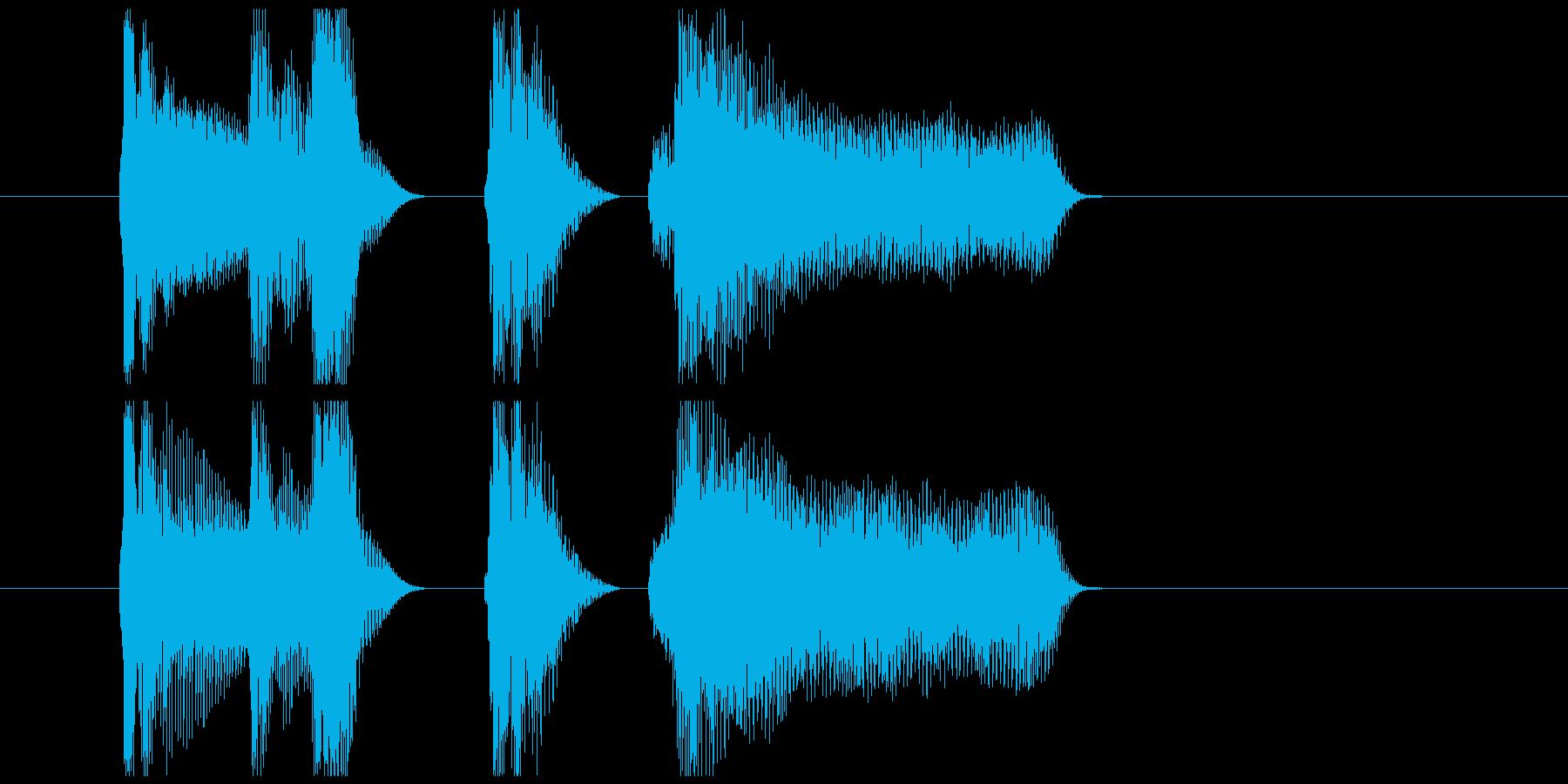 アコーディオン北欧系ほのぼのジングルの再生済みの波形