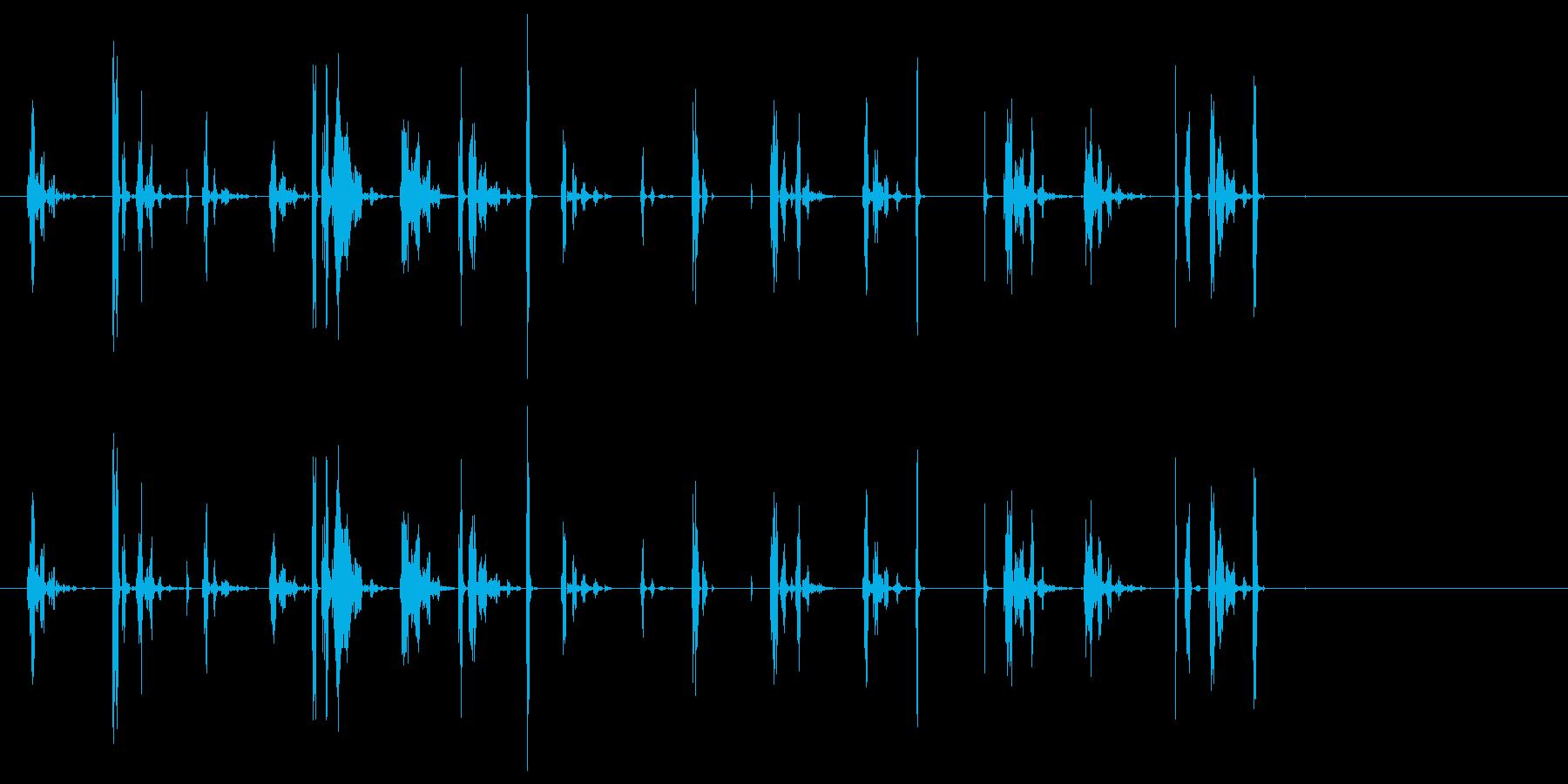 通信、エイリアン伝送_ひどく壊れた受信の再生済みの波形