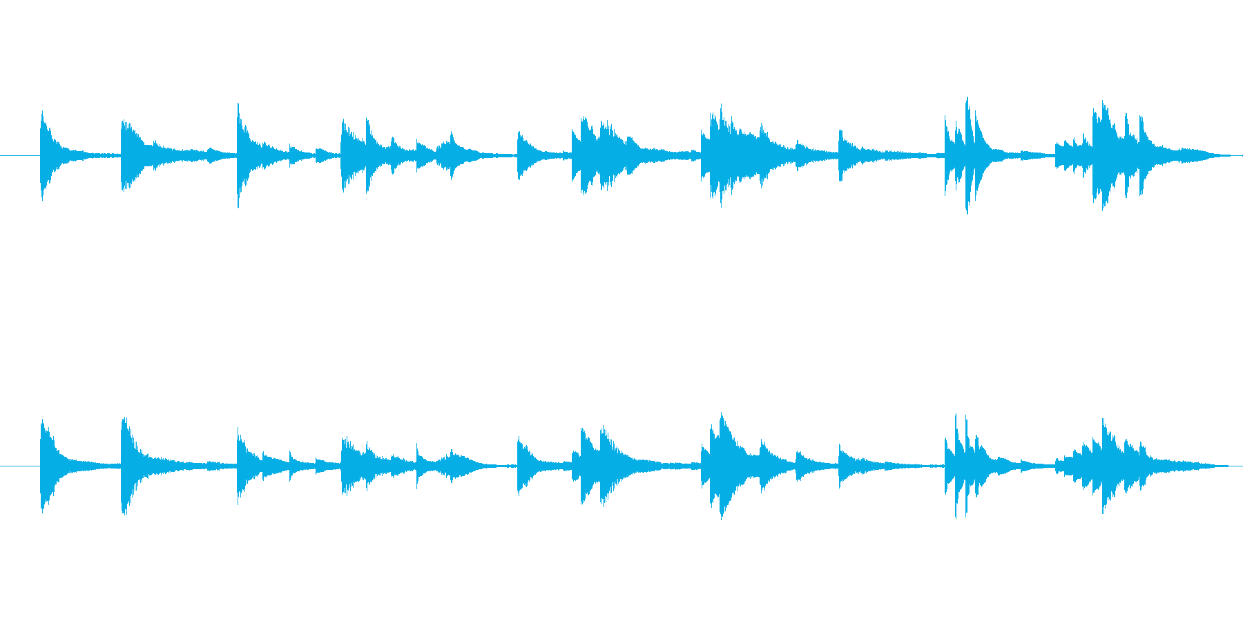 ゆったりとした繊細なピアノメロディーの再生済みの波形