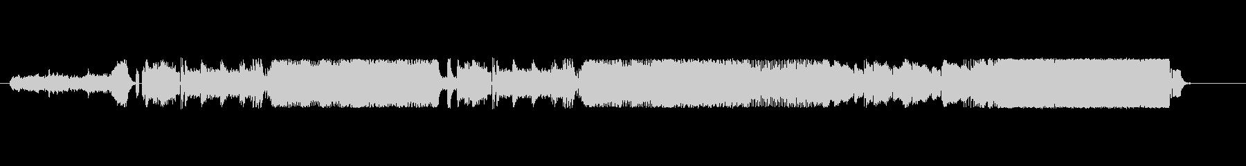 低高音混じる鋭さのあるシンセサイザーの曲の未再生の波形