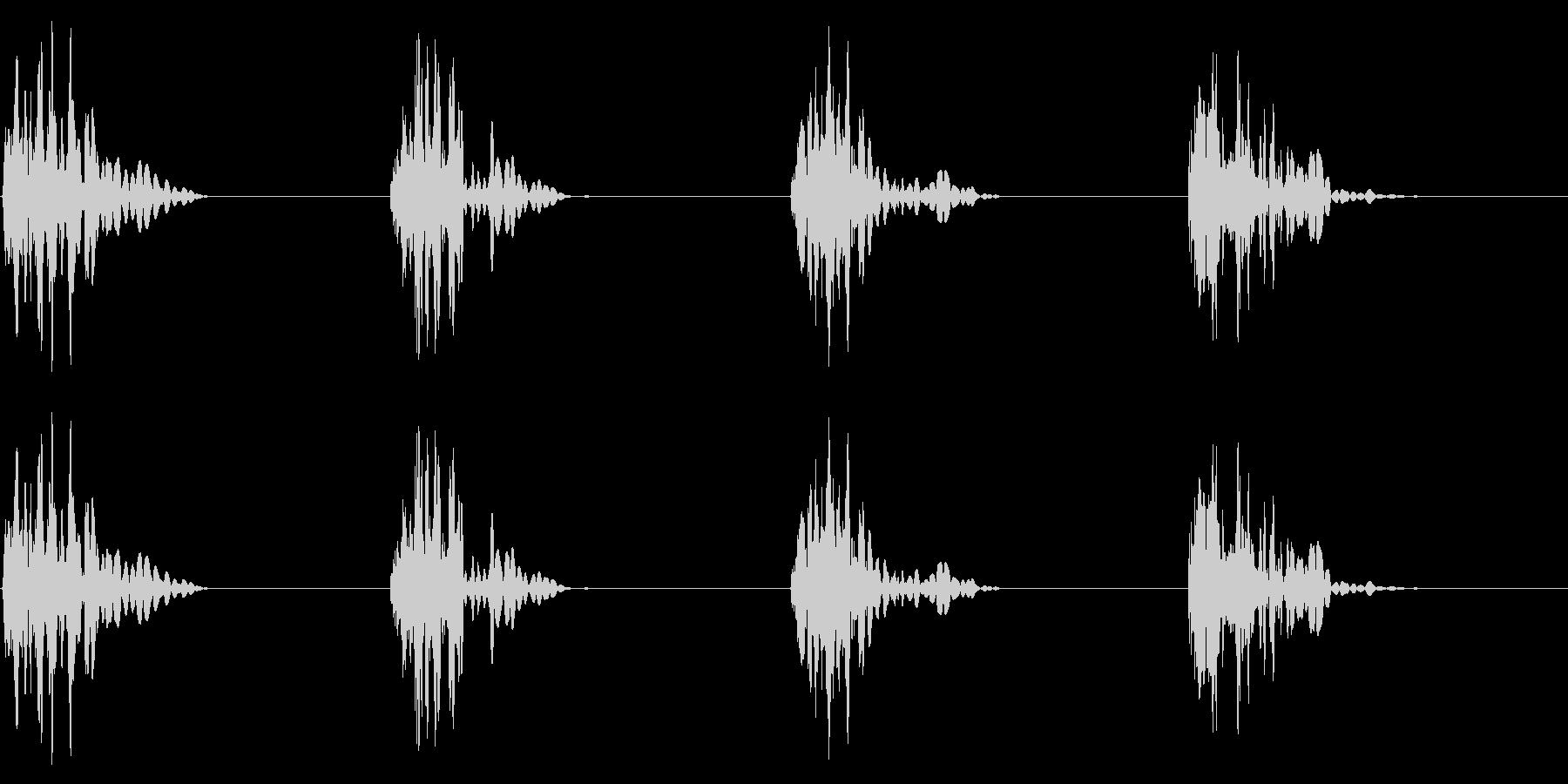 ドスッドスッ 重めの足音の未再生の波形
