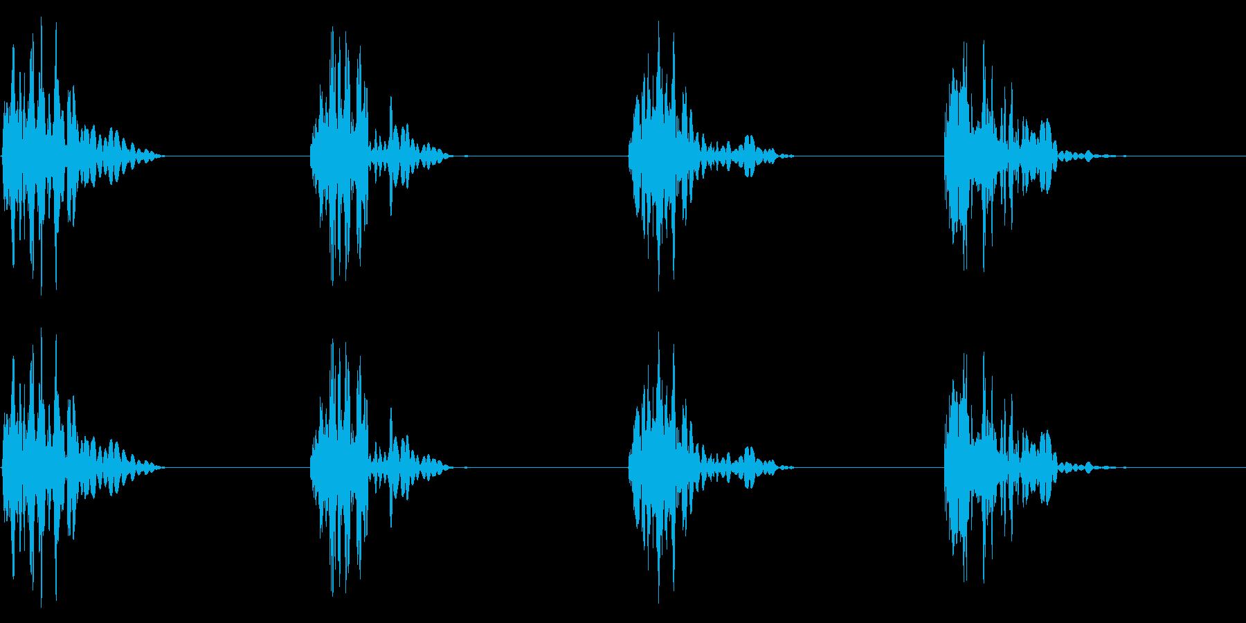 ドスッドスッ 重めの足音の再生済みの波形