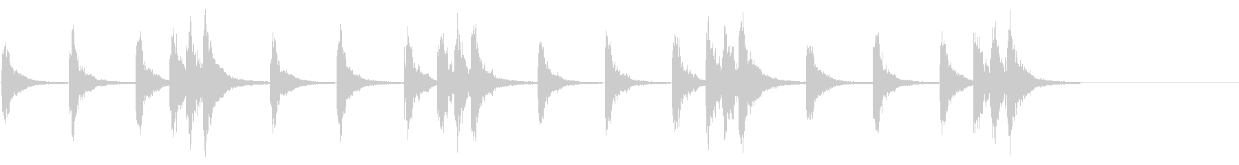 和太鼓 たんたんたんどどたんx4の未再生の波形