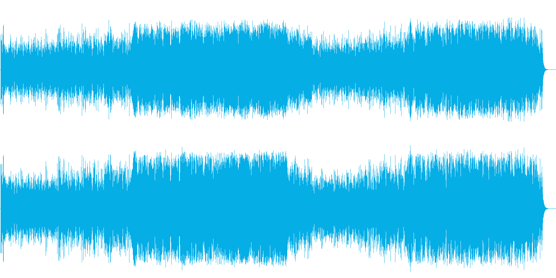 優雅なボサノバ風マイナーフュージョンの再生済みの波形