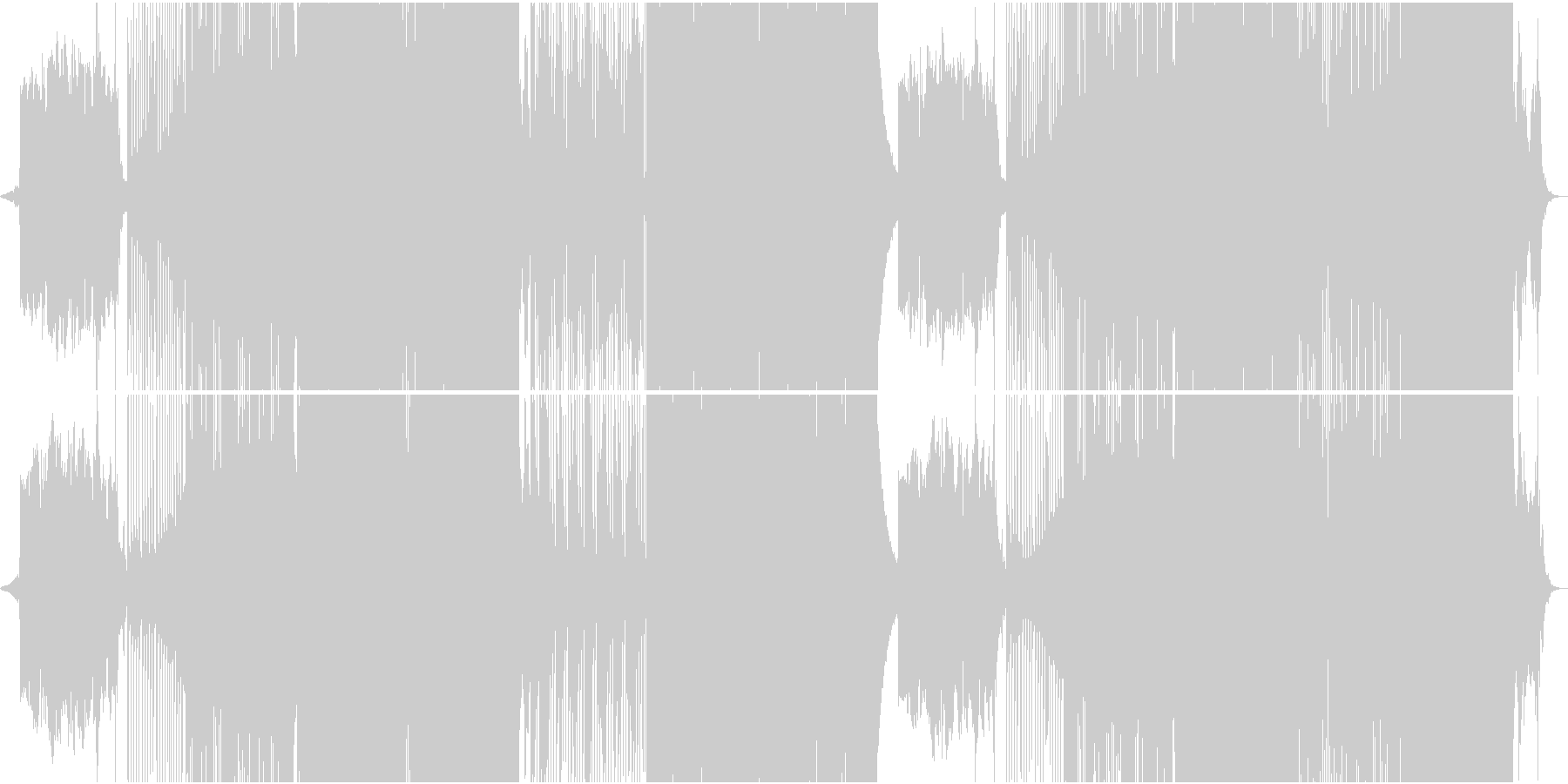切ないスロー和風Future Popの未再生の波形