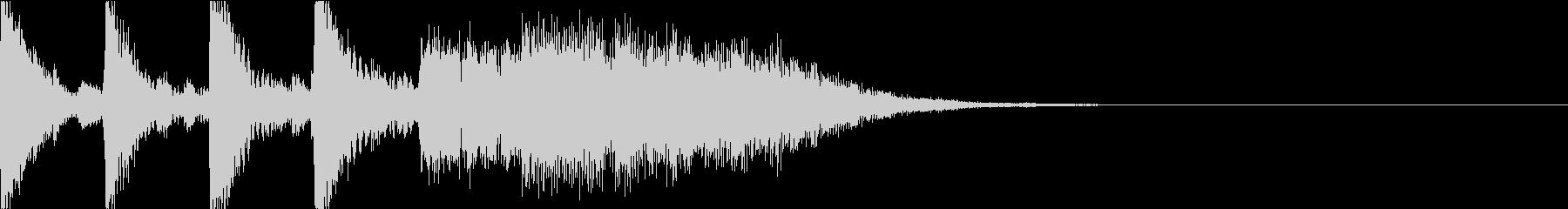 理系イメージのタイトルロゴサウンドの未再生の波形