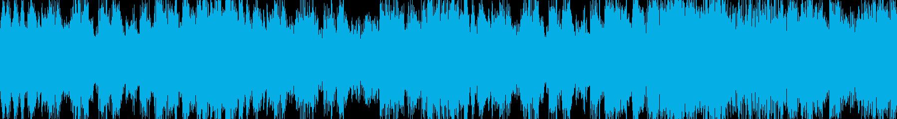 勇壮なオーケストラ風短BGM ループ曲の再生済みの波形