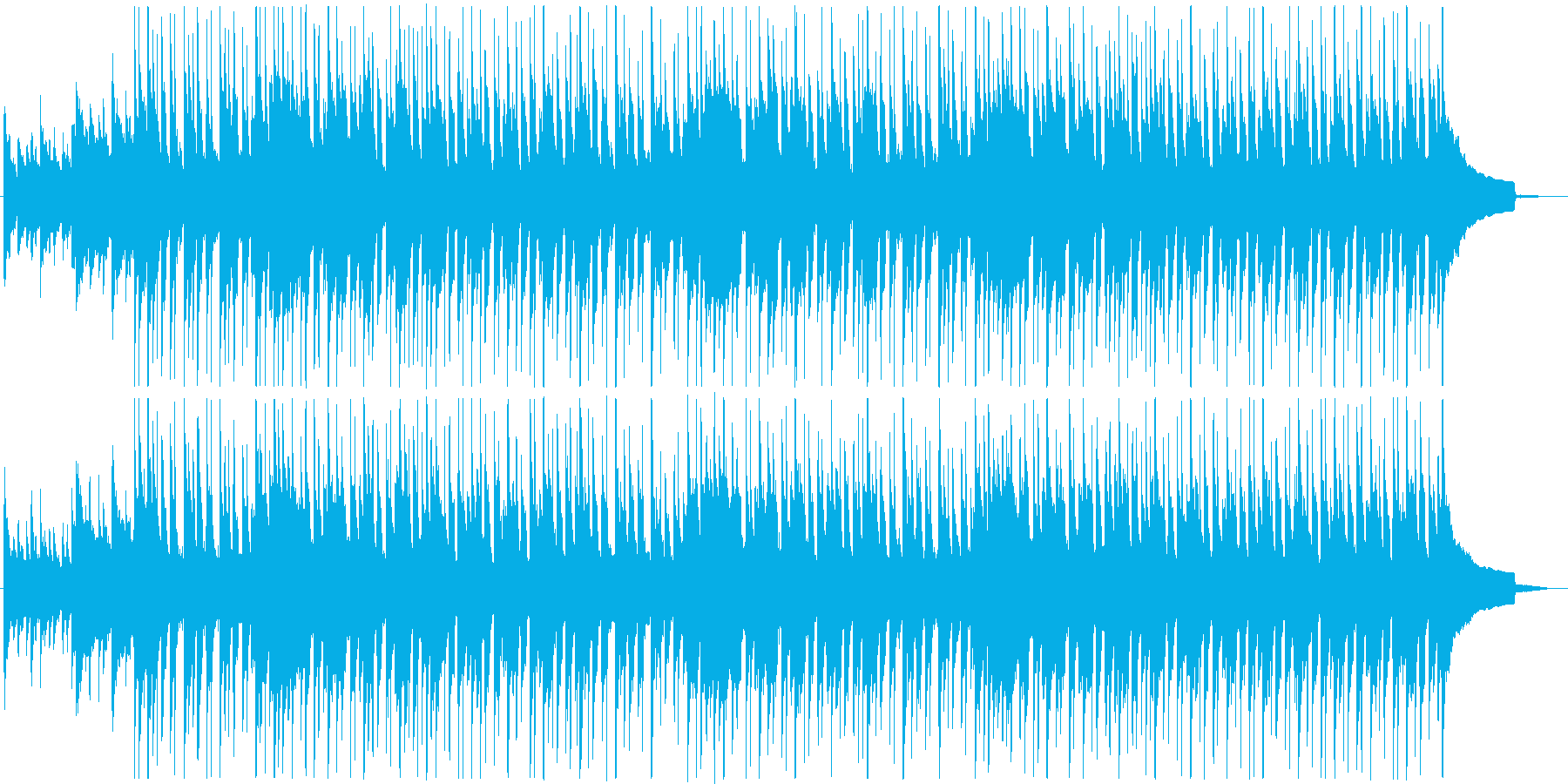 新しい生活をイメージしたポジティブな曲の再生済みの波形
