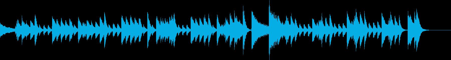 クリスマスおめでとうピアノジングルCの再生済みの波形