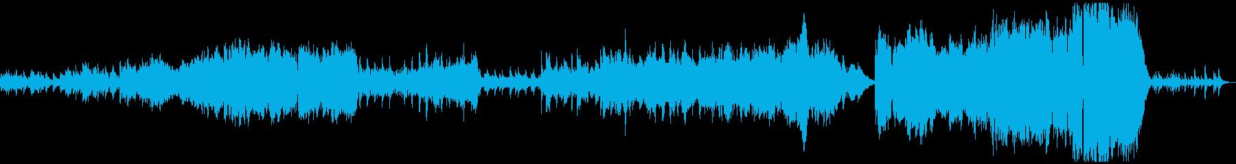 日常のホッとした雰囲気のピアノ曲の再生済みの波形