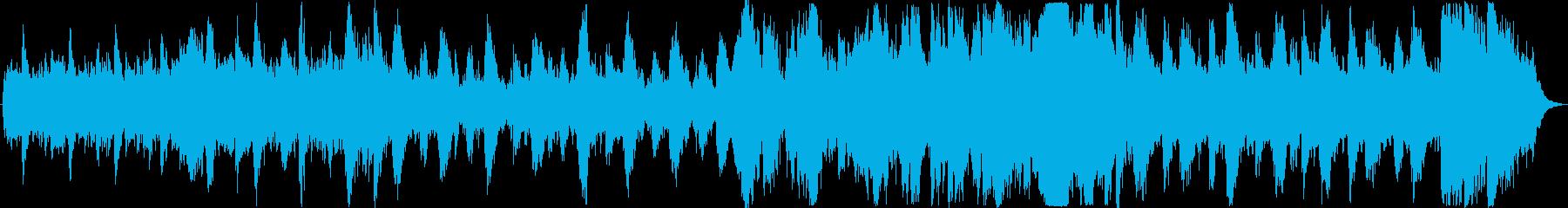 壮大なオーケストラ楽曲の再生済みの波形