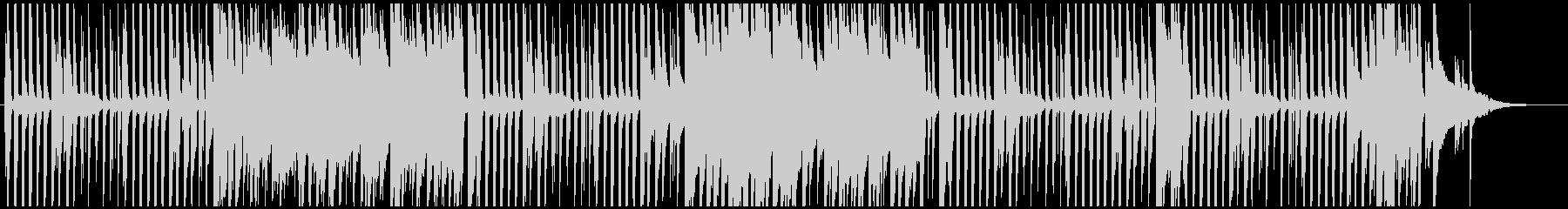 ほのぼのした雰囲気のピアノのポップスの未再生の波形