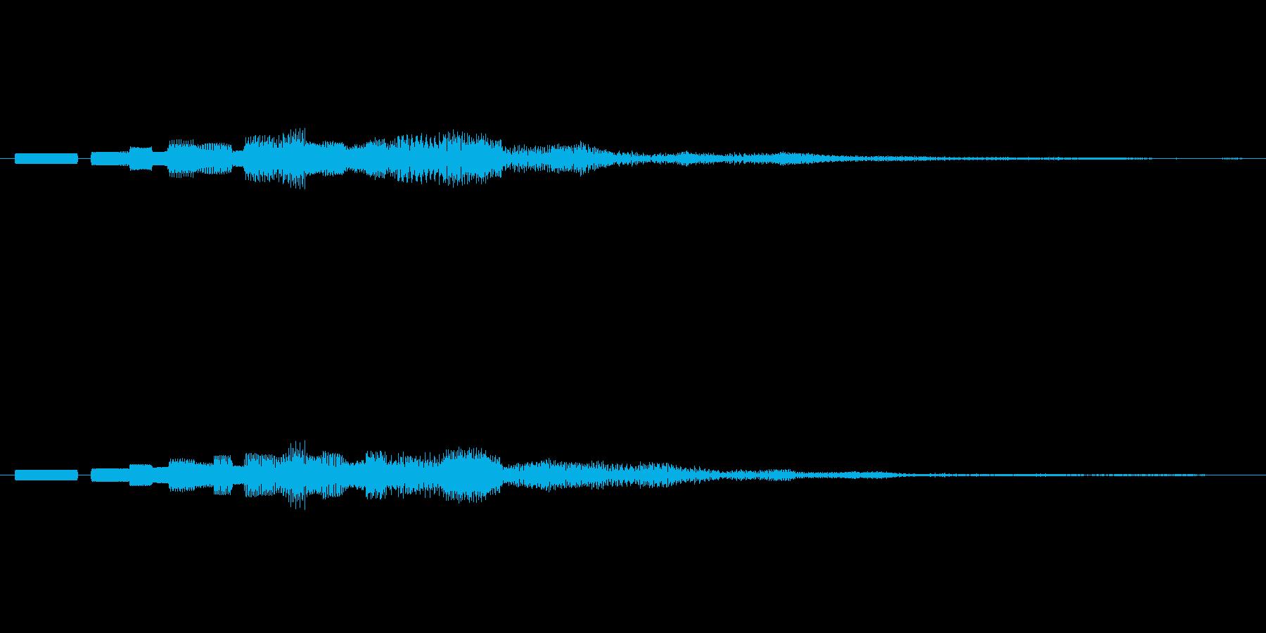 ピロピロピロッ↓(PC終了音、ロボット)の再生済みの波形