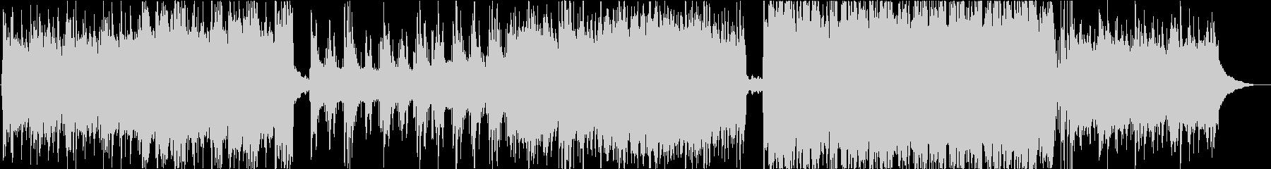 生演奏の二胡とピアノの癒し系サウンドの未再生の波形