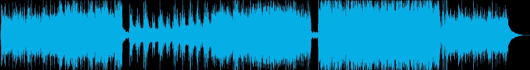 生演奏の二胡とピアノの癒し系サウンドの再生済みの波形
