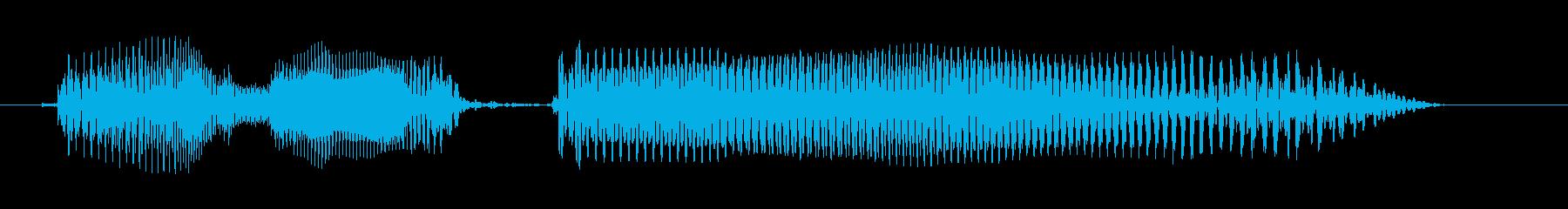 シニア女性B:わからないの再生済みの波形