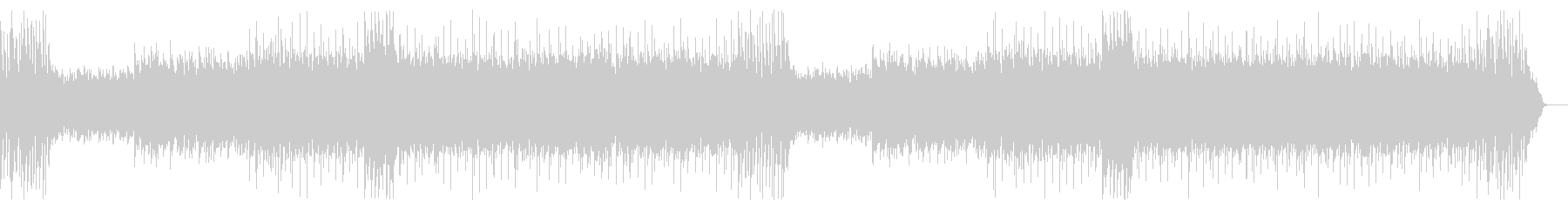 ガムランを中心としたエスニックなBGMの未再生の波形