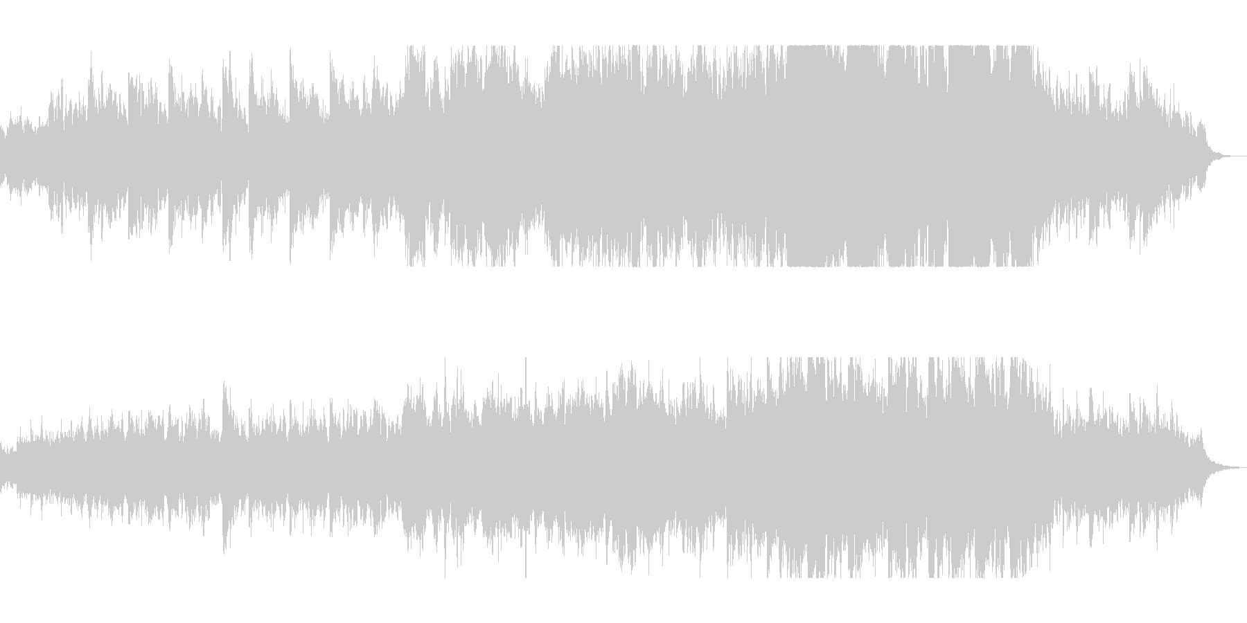 ハープの透明感のある音色が特徴のバラードの未再生の波形