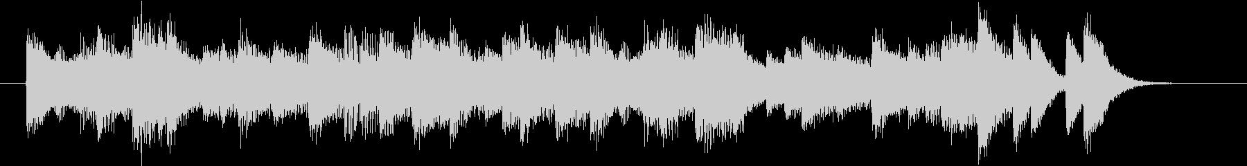 懐かしいメロのリズミックなピアノジングルの未再生の波形